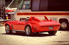 What a beast! The Grand Sport Vette definitely a chick magnet.