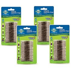 (4 Pack) PetSafe Busy Buddy Refill Ring Dog Treats for select Busy Buddy Dog Toys, Natural Rawhide, Size B -- You can check out this great product. (This is an affiliate link and I receive a commission for the sales)