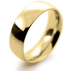18ct Yellow Gold Wedding Ring Traditional Court Heavy - 7mm