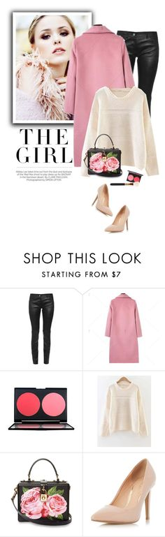 """Pink coat"" by yexyka ❤ liked on Polyvore featuring Kershaw, Balenciaga, Dolce&Gabbana and Dorothy Perkins"