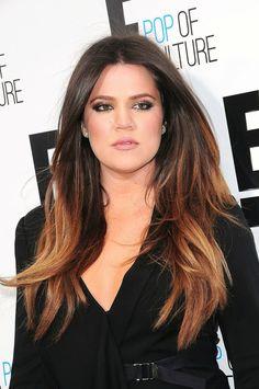ombre hair kloe kardashian loiro