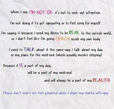 I don't apologize for being ill. This is my life, my reality. If you are my family or friend you need to understand that. Diseases, Chronic illness and Chronic Pain Chronic Migraines, Chronic Illness, Chronic Pain, Endometriosis, Mental Illness, Cidp, Complex Regional Pain Syndrome, Ankylosing Spondylitis, Hypermobility