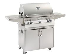 Stand Alone Grills LP Grill with Single Side Burner