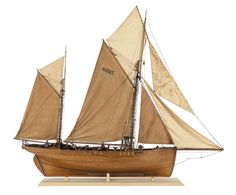 """Superb model of Hull fishing smack """"Authentic"""", 1880   .NMM"""