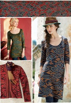 Great prints for fall from Peruvian Connection.  Love the Fedora too.