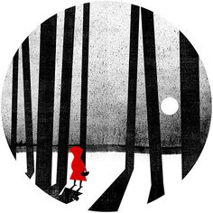 A contemporary response to an old tale - Little Red Riding Hood (unknown illustrator)