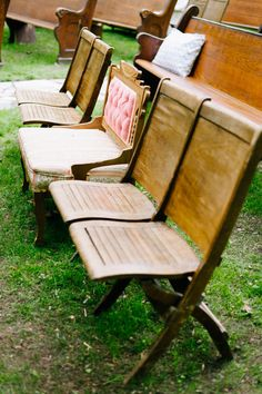outdoor ceremony seating // photo by Jeff Loves Jessica, styling by Bash Collective // view more: http://ruffledblog.com/woodsy-wonderland-wedding