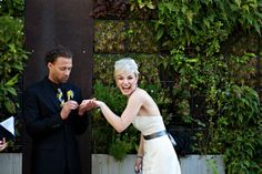 Chic wedding and reception at Hotel Modera in Portland. Photo by Kate Kelly Photography via Intimate Weddings.