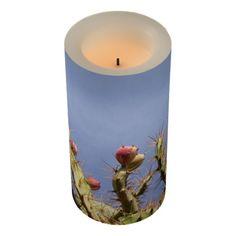 Cactus on Blue Sky Photo Led Candle