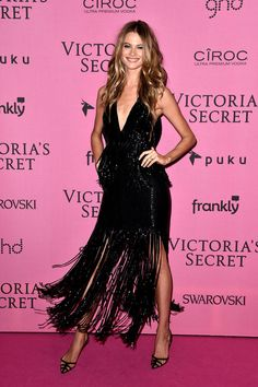 Behati Prinsloo attends the after party for the annual Victoria's Secret fashion show at Earls Court on December 2, 2014 in London, England.