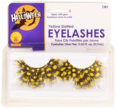 Rubies Yellow Dotted Eyelashes and Adhesive * To view further for this item, visit the image link.