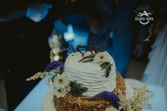 Rustic wedding cake topper.