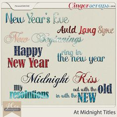 At Midnight Titles by JoCee Designs  #digitalscrapbooking#digiscrapping#digitalart#scrapbooking#makingmemories#Midnight#new year#new years' eve#auld lang syne#happy new year#balloons#champagne#fireworks#party#hat#noise maker#mask#clock#bling#disco ball#countdown#cork#glass#new beginnings#gingerscraps#joceedesigns