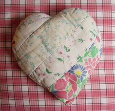 old quilt heart
