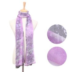 Remedios Boutique Silk and Polyester Soft Long Scarf Fashion Stole, Lilac and Black Remedios Boutique,http://www.amazon.com/dp/B00FS8Q25G/ref=cm_sw_r_pi_dp_eieBtb1ANKZGN1Q0