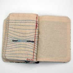 A hand-written letter is always a nice gesture, but this series of a hand-embroidered books by Candace Hicks are absolute works of art.