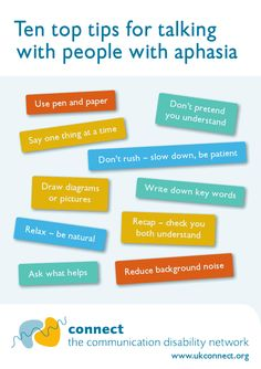 Aphasia tips for communication partners