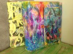 Recycled, Reused & Repurposed Paper and Cardboard in paper art  with Recycled Paper & Books Cardboard