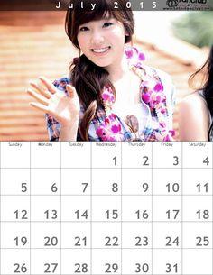 Taeyeon Calendar(800×1035)☺July2015