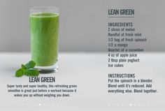 Lean Green Smoothie #health #smoothy #food