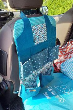 Bag Patterns To Sew, Sewing Patterns, Organizer Auto, Sewing Projects, Projects To Try, Camping Organization, Vw Bus, Tote Purse, Baby Car Seats