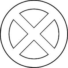 X-men logo   Stencils   Xmen logo, Men logo, Marvel tattoos  X-men logo   St...
