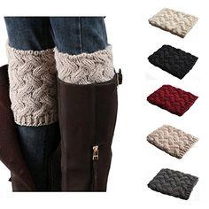 f16090919af Bestjybt Womens Short Boots Socks Crochet Knitted Boot Cuffs Leg Warmers  Socks