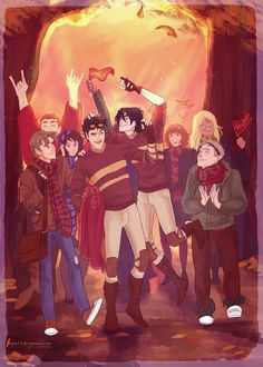Post quidditch match. Mauraders generation.