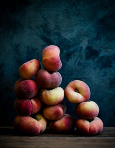 Saturn Peaches - a variety of peach with white flesh |  by stephsus