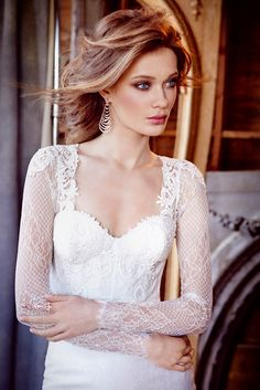 Long sleeve lace style 3560 by Lazaro