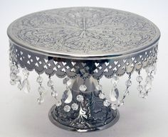 """Wedding Cake Stand Round Pedestal Silver finish 16"""" with Crystals GiftBay Creations,http://www.amazon.com/dp/B00B213ZBM/ref=cm_sw_r_pi_dp_CWjntb0QVJ9VPSJF"""