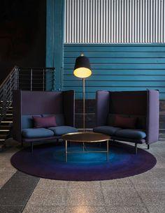 Modern Interior design Lounge - 100 yearold building on Sydney's Woolloomooloo Wharf transformed by Ovolo Woolloomooloo, the design hotel that likes to give Coperate Design, Design Hotel, Deco Design, House Design, Design Ideas, Design Trends, Design Inspiration, Room Inspiration, Sofa Design