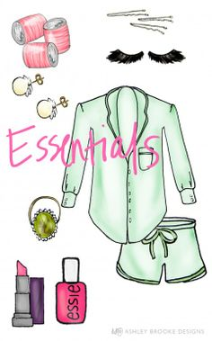 ABD Styled: Gets All Gussied Up Essentials // custom illustration // fashion illustration
