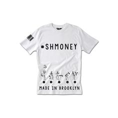 Shmoney Tee ($40) ❤ liked on Polyvore featuring tops, t-shirts, shirts, shirts & tops, white t shirt, summer tees, white tee y white summer shirt