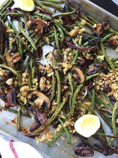 Roasted Green Beans, Mushrooms, and Onions with Parmesan Breadcrumbs  - Delish.com