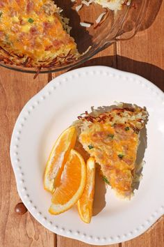 This Ham and Cheese Hash Brown Quiche is an easy and delicious way to upgrade your breakfast or brunch for just 183 calories or 5 Weight Watchers points! www.emilybites.com #healthy