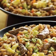 Serve up this hearty beef fried rice recipe in just 35 minutes. Stretch a small amount of steak into a meal by adding the beef to Zatarain's Beef Flavor Rice. Mix in water, veggies and eggs and serve up a dish that will feed the whole family – up to 5 servings.