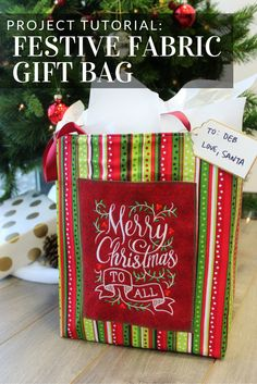 Add a personal touch to gift wrap with a homemade fabric gift bag from Embroidery Library.