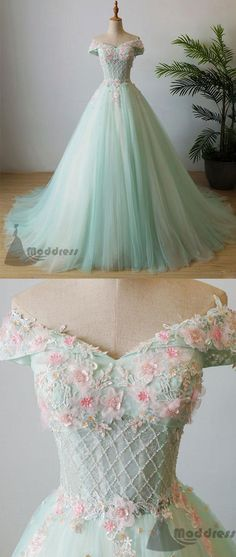 elegant applique wedding dress off the shoulder beading long prom dress tulle ev. - elegant applique wedding dress off the shoulder beading long prom dress tulle evening Source by mysisterisaweir - Cute Prom Dresses, Tulle Prom Dress, Ball Dresses, Pretty Dresses, Ball Gowns, Formal Dresses, Formal Prom, Long Dresses, Cheap Prom Dresses Under 100 Long