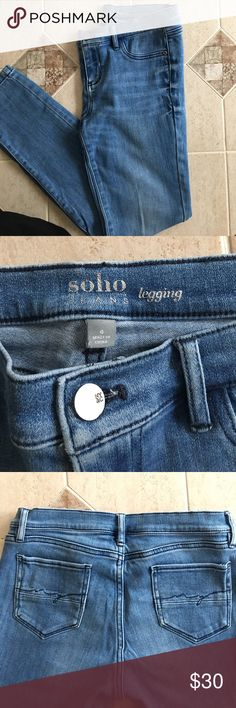 Jean legging Light wash jean legging. Excellent condition. Size 6. New York & Company Jeans