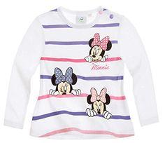 Tee Shirt Manga Larga Bebé Niña Minnie Blanco/Morado de 3a 24Meses morado blanco Talla:3 meses #camiseta #starwars #marvel #gift