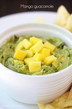 Mango guacamole... the perfect summer appetizer!