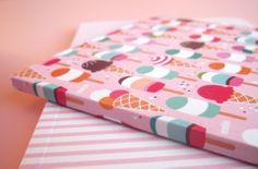Joli carnet gourmand ♥ Ice Cream - pages blanches : Carnets, agendas par tiboudpapier