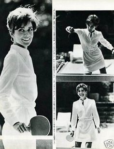 Audrey Hepburn playing table tennis