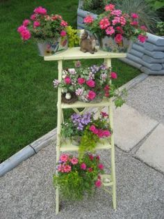 flower ladder