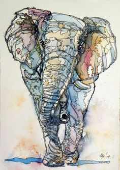 jake winkle | ARTFINDER: Colorful Elephant by Kovács Anna Brigitta - Original ...