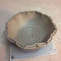 "Bowl #10 – Split Rim with Eight Pinches… then indented and ""out""dented. Feels lotus-y, but I'd skip the split."