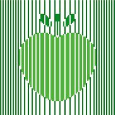 Modern cross stitch pattern of a minimalist apple by crossstitchtheline