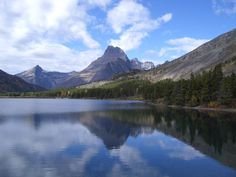 At Many Glacier, I'll be seeing this view of Swiftcurrent Lake, #Montana