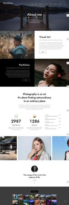 写真家のポートフォリオサイト構築の為のWordPressテーマ【Blacksilver】 | studioDoghands